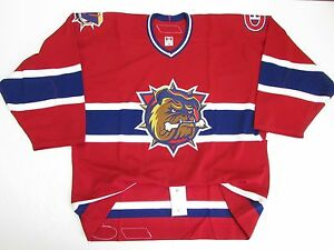hot sale online fa6c4 3d264 Details about HAMILTON BULLDOGS AUTHENTIC AHL RED PRO REEBOK 6100 HOCKEY  JERSEY SIZE 54