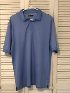 Callaway-Golf-Mens-light-Blue-Polo-Shirt-Size-XL-Moisture-wicking-100-poly