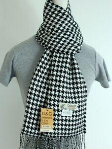 DG Men/'s Winter Scarf,Stripe Black Gray Cashmere Feel.Warm*Unisex
