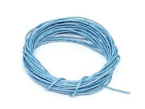 Création Bijoux Perles 4 Mètres de Fil CORDON COTON CIRE Bleu diamètre 1 mm