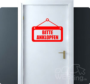 bis 60cm anklopfen verboten hinweis schild aufkleber sticker tattoo t r. Black Bedroom Furniture Sets. Home Design Ideas