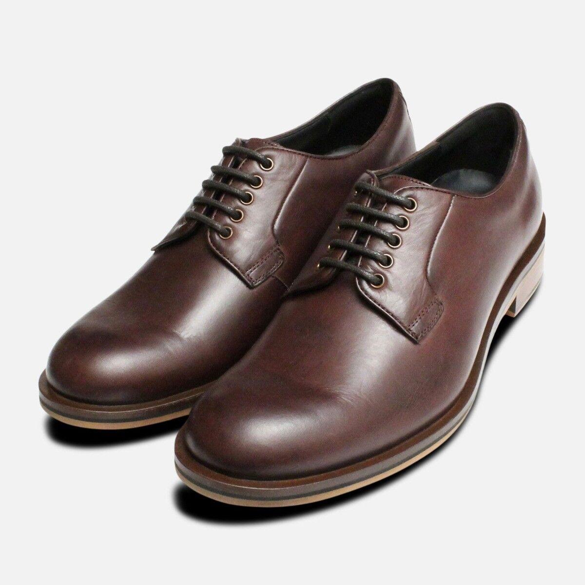 Plain Toe Brown Thomas Partridge Lace Up shoes