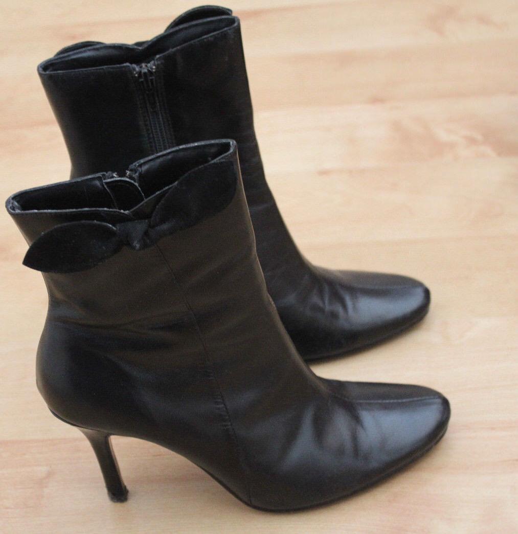 Wallis ladies  black high  heel  boots size 5