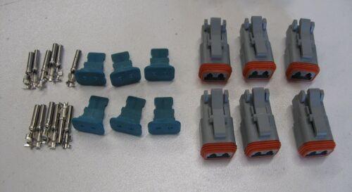 Amphenol AT 2 Pin 16-18 AWG Conn Kit Deutsch DT Comp,MSD 8183,DT04-2P,DT06-2S X6