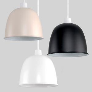 Modern-Domed-Metal-Easy-Fit-Ceiling-Pendant-Light-Shade-Lampshade-Retro-Lighting