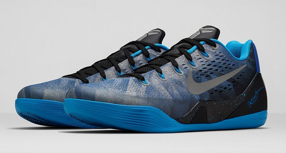 Nike MEN'S KOBE IX Premium SIZE 12 Game Royal Metallic Silver HERO BRAND NEW