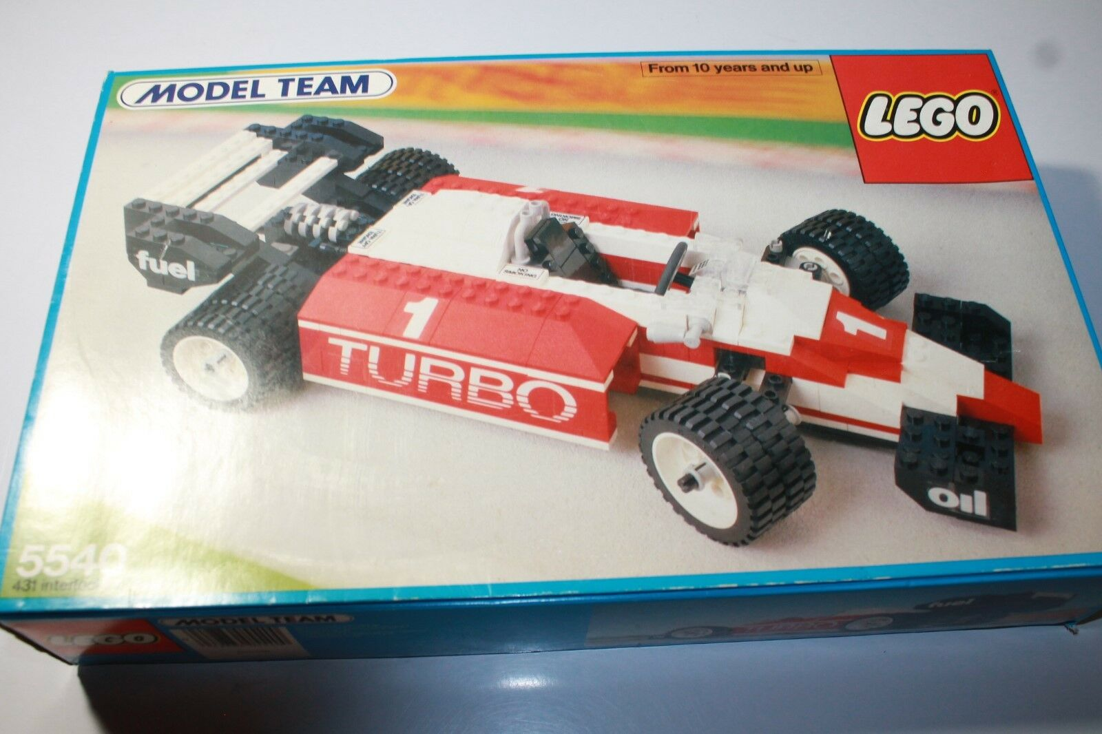1986 LEGO Model Team 5540 Indy Formula 1 Car Airplane NEW IN OPEN BOX