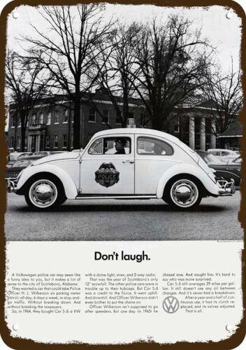 1966 VOLKSWAGEN BEETLE VW POLICE CAR Vintage Look REPLICA METAL SIGN SCOTTSBORRO