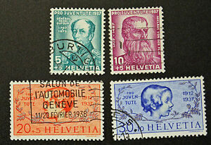 Stamp-Switzerland-Yvert-and-Tellier-N-303-IN-306-H-Obl-Cyn16