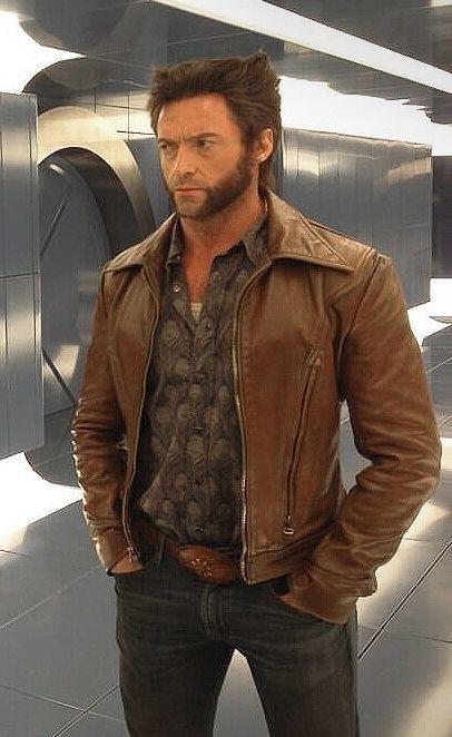 Xmänner Wolverine Days of Future Past braun Slim fit Genuine CowHide leder jacke