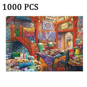 1000 Piece Quilt Shop Learning Toy Game For Adults Puzzle Gift Jigsaw I9A8