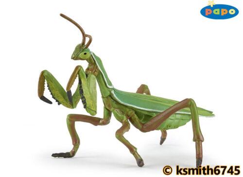Papo Mantide religiosa solida in Plastica Giocattolo Animale Selvatico insetti Bug Predator NUOVO *