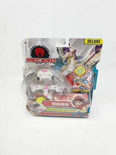 MECARD mirinae Deluxe mecardimal action figure bianco si trasforma con carta