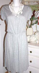 Manches Gris Jersey Viscose Nouveau Dress Taille XL Melange Courtes Noa YgIw4