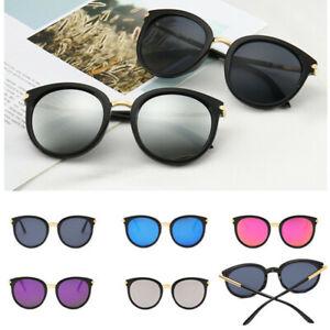Women-Fashion-Oversized-Sunglasses-Reflective-Flat-UV400-Round-Eyewear-Mirror