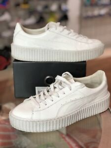 2e8588c8f096 PUMA Rihanna Fenty Basket Creepers SIZE 10 White Glo Triple White US ...
