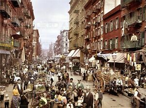 New-York-City-NY-Manhattan-Mulberry-St-1900-5x7-color-photo-print-or-request-CD