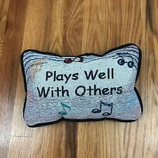 CafePress Colored Music Notes Choir Band Throw Pillow 1021423822