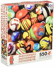 Ceaco JIgsaw Puzzle Photography Marbles Glass Cats Eye Oxblood Commie 550 Pieces