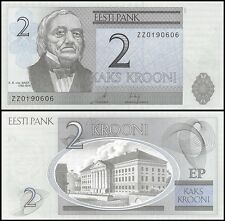 Estonia 2 Krooni, 2007, P-85b, UNC, REPLACEMENT