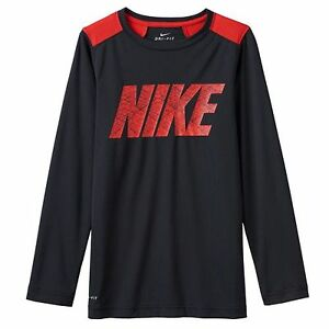 L ** NWT NIKE Boys Dri-FIT STRIPED LEGACY TEE T-Shirt ** ELECTROLIME//MULTI M