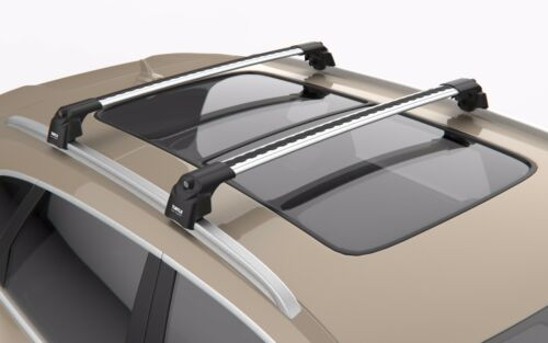 Volvo XC60 2008-2017 Gris Verrouillable Anti Vol Barres transversales Barres De Toit Rack Rails