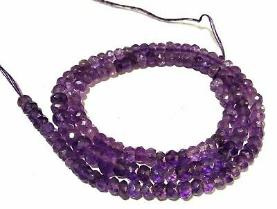 Size 3.10-3.20MM Amethyst Shaded Micro Faceted Rondelles 13 Inches Strand