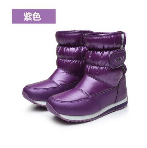Cute Children Boys Girls Outdoor Snow Ankle Boots Waterproof Warm Plus Sz  Shoes