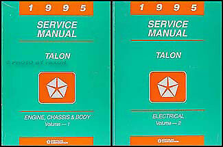 1995 Eagle Talon Shop Manual Set 95 Original OEM Repair Service Books ESi TSi