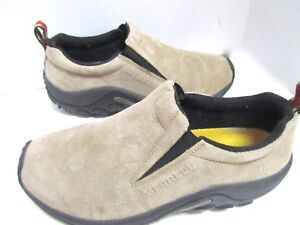 Merrell-Jungle-Mocs-Beige-Ivory-Leather-Suede-Shoes-Traction-8-5-EXC