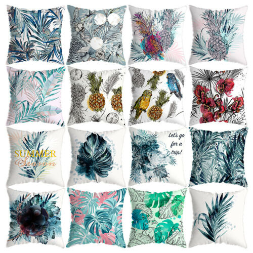 """Tropical Plants Pillowcase Home Sofa Car Throw Pillow Cushion Cover Case 18""""x18"""""""