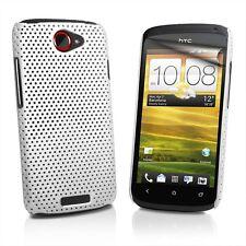 FUNDA CARCASA PERFORADA HTC ONE S BLANCA+PROTECTOR PANTALLA CASE