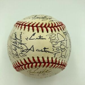 1993 Toronto Blue Jays World Series Champs Team Signed Baseball 37 Sigs PSA DNA