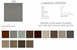 CARNEGIE MTM LINED CURTAINS. HERRINGBONE TWEED. MANY COLOURS /SIZES. THERMAL BAY