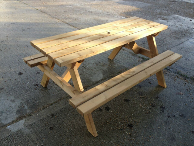 6 Seater Picnic Table Pub Bench Commercial Grade Value For Sale