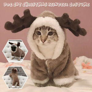 Pet-Puppy-Dog-Cat-Costume-Christmas-Clothes-Santa-ClausCoat-Apparel-Hoodie-DIY