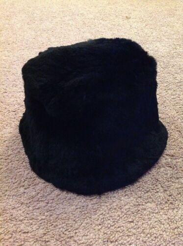 Womans VINTAGE Hatterdashers Black Rabbit Fur Buck