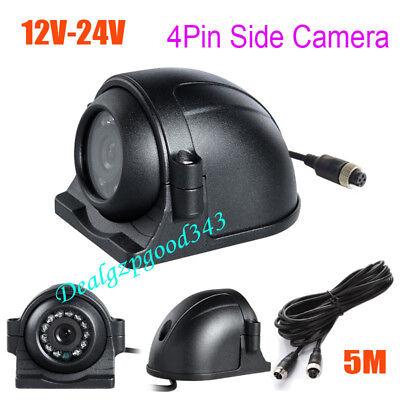 4pin 12 Led-seitenrückfahrkamera Für Lkw-bus-monitor + 5m Videokabel 12v-24v