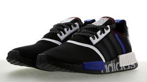 Details about Adidas Men's NMD_R1 DSTN Black White Blue Logo FV5215