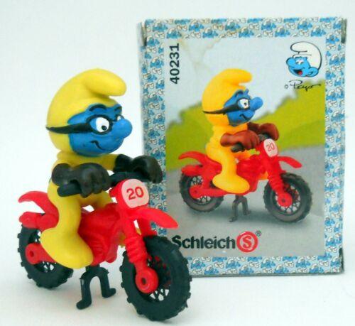 40231-Motocross PUFFOMotorcross SMURF#schleichNUOVI IN SCATOLA ORIGINALE