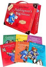 Paddington Bear Suitcase Briefcase 6 Picture Books Set Collection Michael Bond