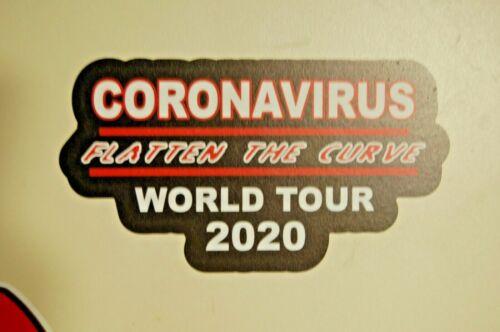 4  covid Virus DECAL Hygiene home car door bumper sticker