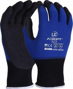 UCI-Adept-AIR-Nylon-Lycra-Work-Safety-Gloves-Lightweight-Nitrile-Foam-NFT-Palm