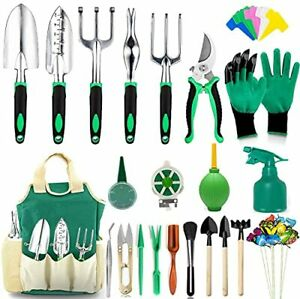 83 Pcs Garden Succulent Tools Set Heavy Duty Aluminum Manual Kit Green Color