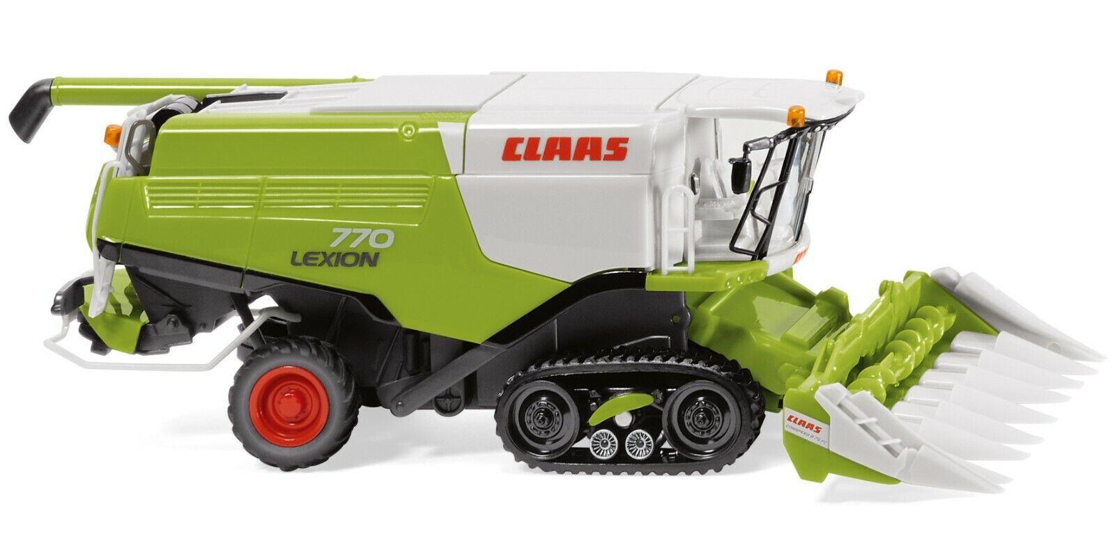WIKING 0389 13 Claas Lexion 770 TT Mähdrescher mit Conspeed Maisvorsatz Neu 0219