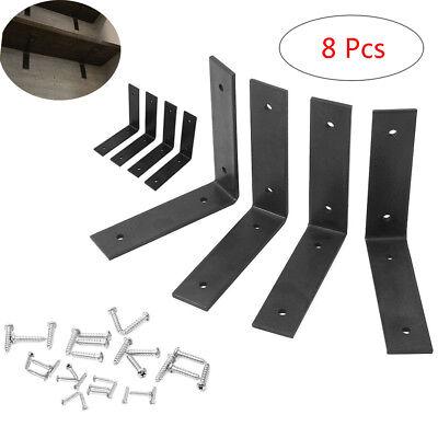 """Corbel Lot L Shelf 4 Heavy Duty Black Steel 6""""x6"""" Countertop Support Brackets"""
