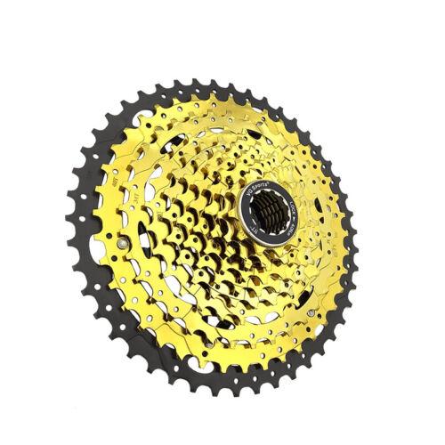 VG Sports MTB Fahrrad Kassette 10 Fach 11-46 Zähne Gold Schraubkranz Zahnkranz