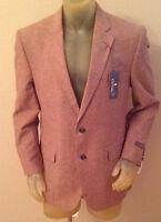 Stafford Signature Classic Fit Chestnut Sport Coat Suit Jacket 42 Regular