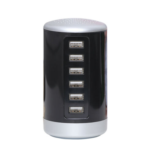 Multi 6 USB Port Desktop Charger Rapid Tower Charging Station Power Adapter 30W