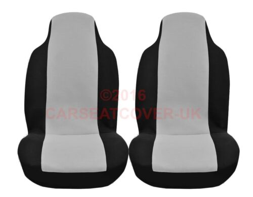 Nissan NV200 2 x Fronts Luxury GREY and BLACK Van Seat Covers